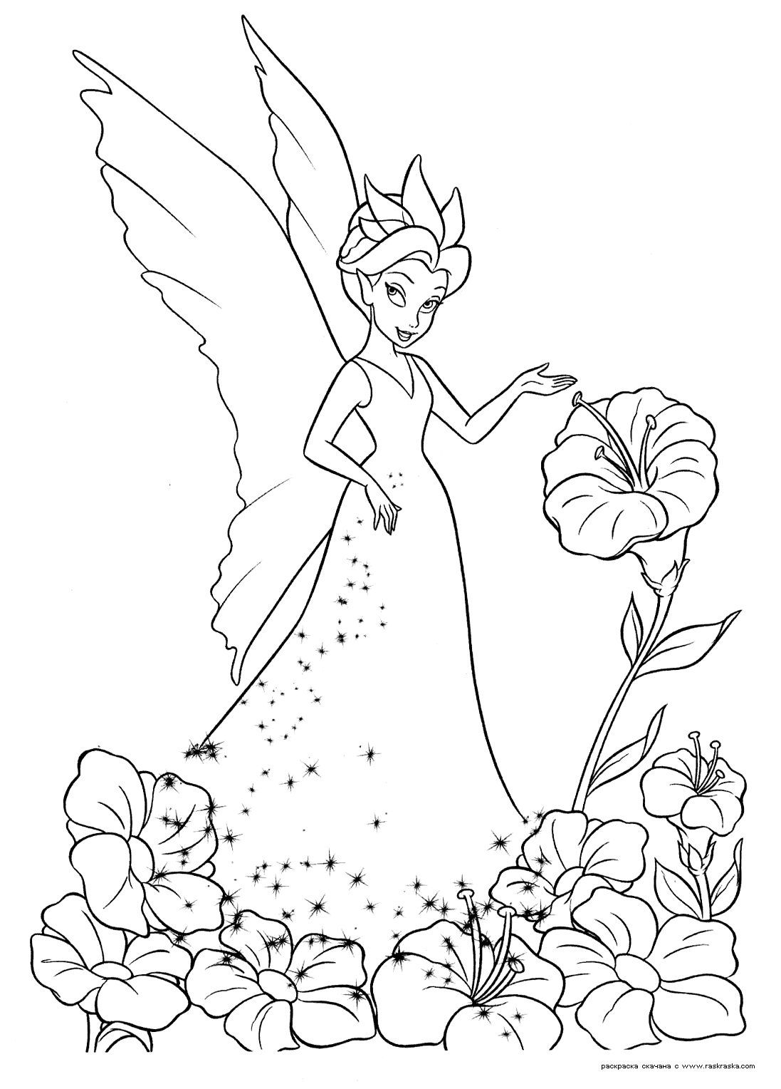 Coloring Disney Disney Flickor Print Raquo Page 61 Fairies