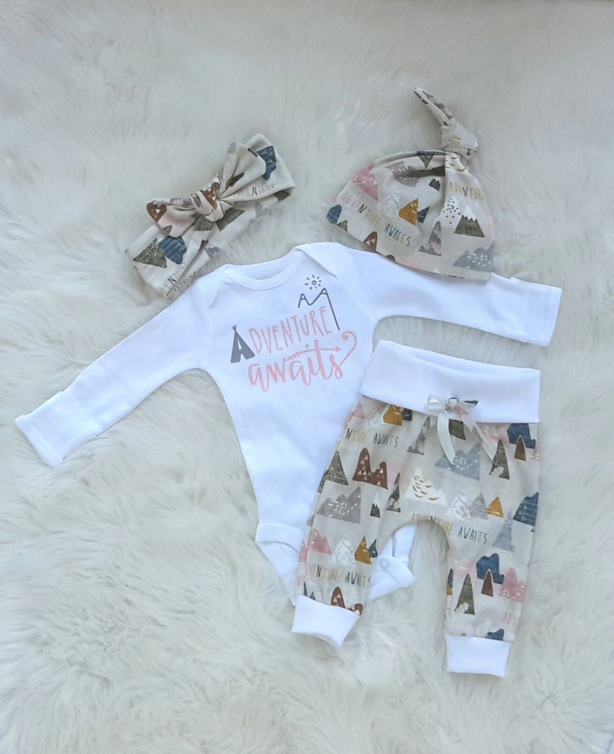 2f81b510c baby girl coming home outfit Adventure awaits outfit coming home ...