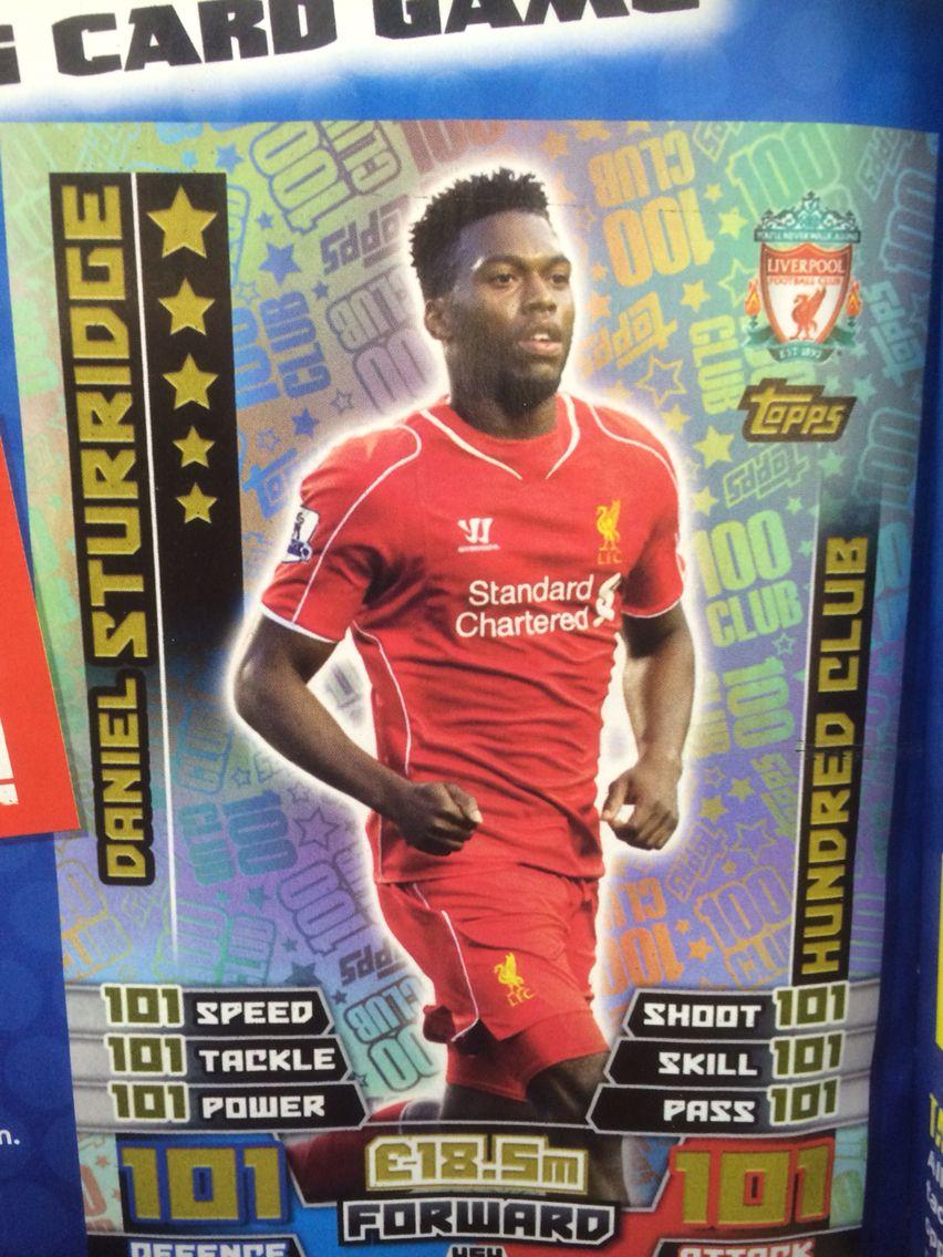 Match Attax 2014 2015 Daniel Sturridge 100 Club Card Lfc Football Poster Match Attax Cards