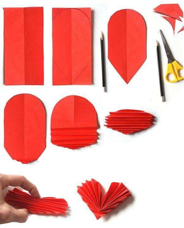 valentinstag basteln mit kindern falten | Emma | Pinterest | Origami