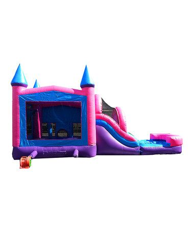 Loving this Princess Mega Wet/Dry Slide & Bounce House on #zulily! #zulilyfinds