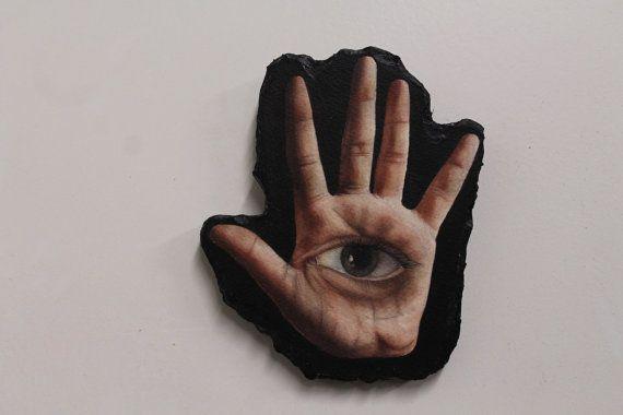 Hand with Eye by VelvetMush on Etsy