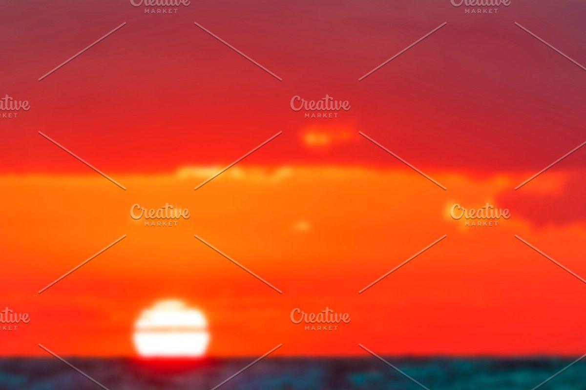 Photo of Hot sunset – blurred image #Sponsored , #SPONSORED, #soft#lens#Hot#sunset