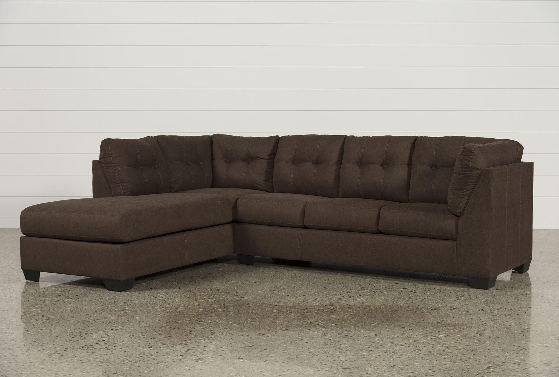 Best Maier Walnut 2 Piece Sectional W Sleeper Cozy Couch 400 x 300