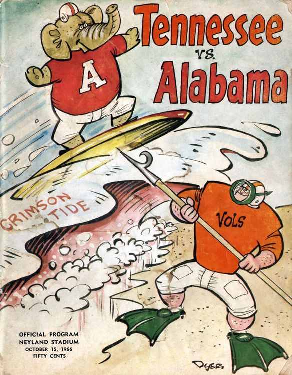 Vintage Sports Pictures Photo Tennessee Football Alabama
