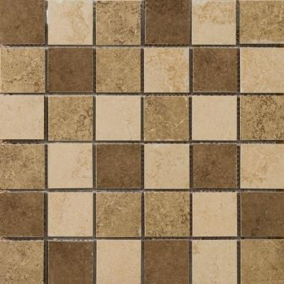 Emser Genoa Blend 13 in. x 13 in. x 7.5 mm Porcelain Mesh-Mounted Mosaic Tile-1193861 - The Home Depot