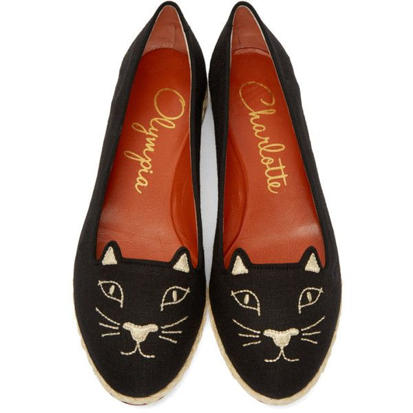 Charlotte Olympia Black Capri Cats Flats ( 300) ❤ liked on Polyvore  featuring shoes f68180189538