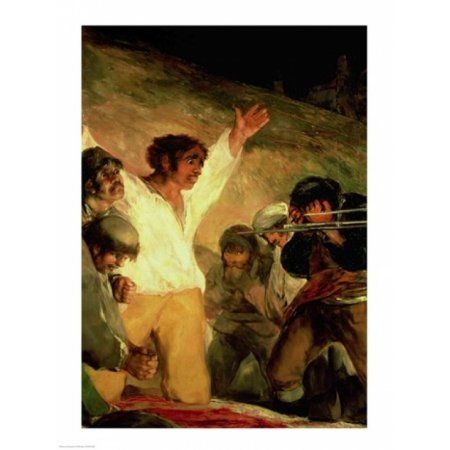 Execution of the Defenders of Madrid Canvas Art - Francisco De Goya (24 x 36)
