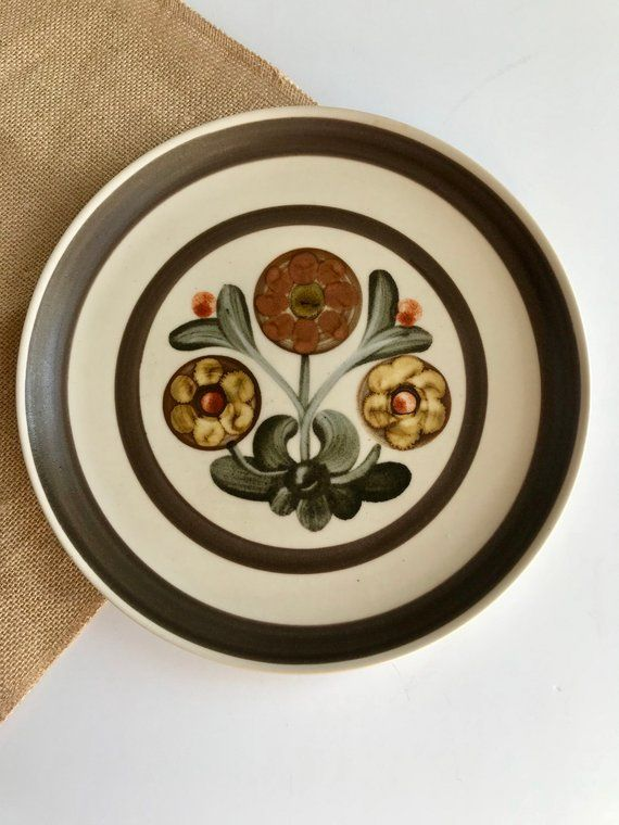 Denby Salad Plate Irish Salad Plate Shamrock Plate Denby-Langley Shamrock Salad Plate 8 14 Green Salad Plate Vintage Plate