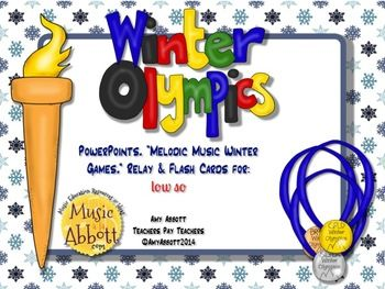 Melodic Winter Games for the Music Room: low so