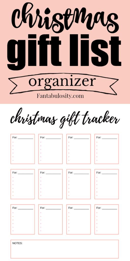 Christmas Gift List Gift List Printable Christmas Gift List Cool Gifts For Women