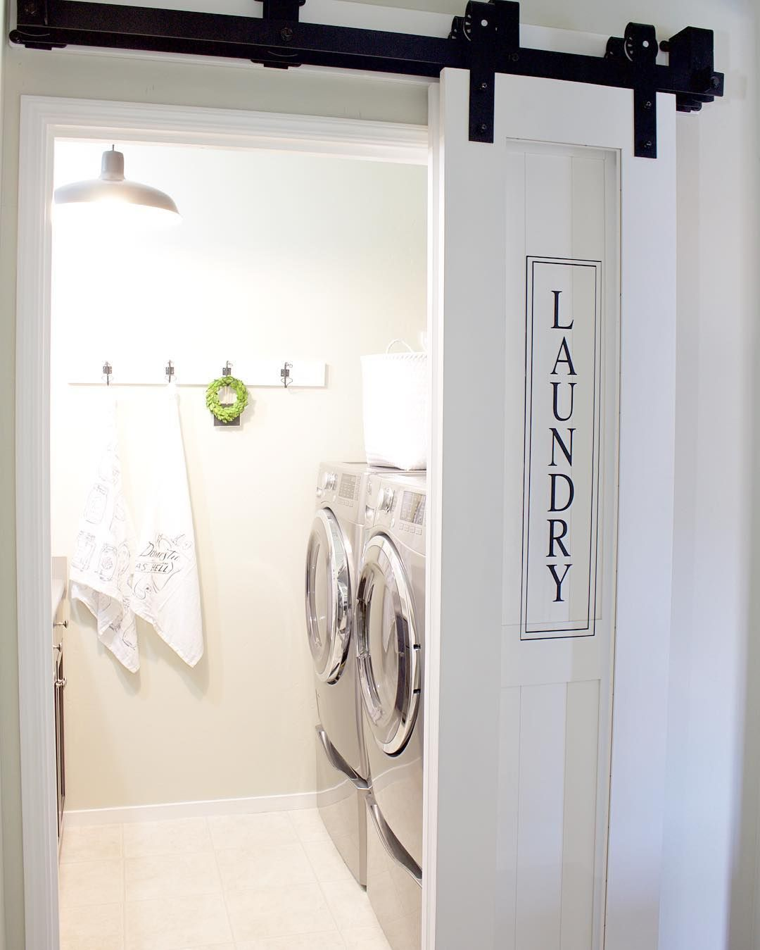 Acrylic Laundry Barn Doors Space Saver For Small Rooms
