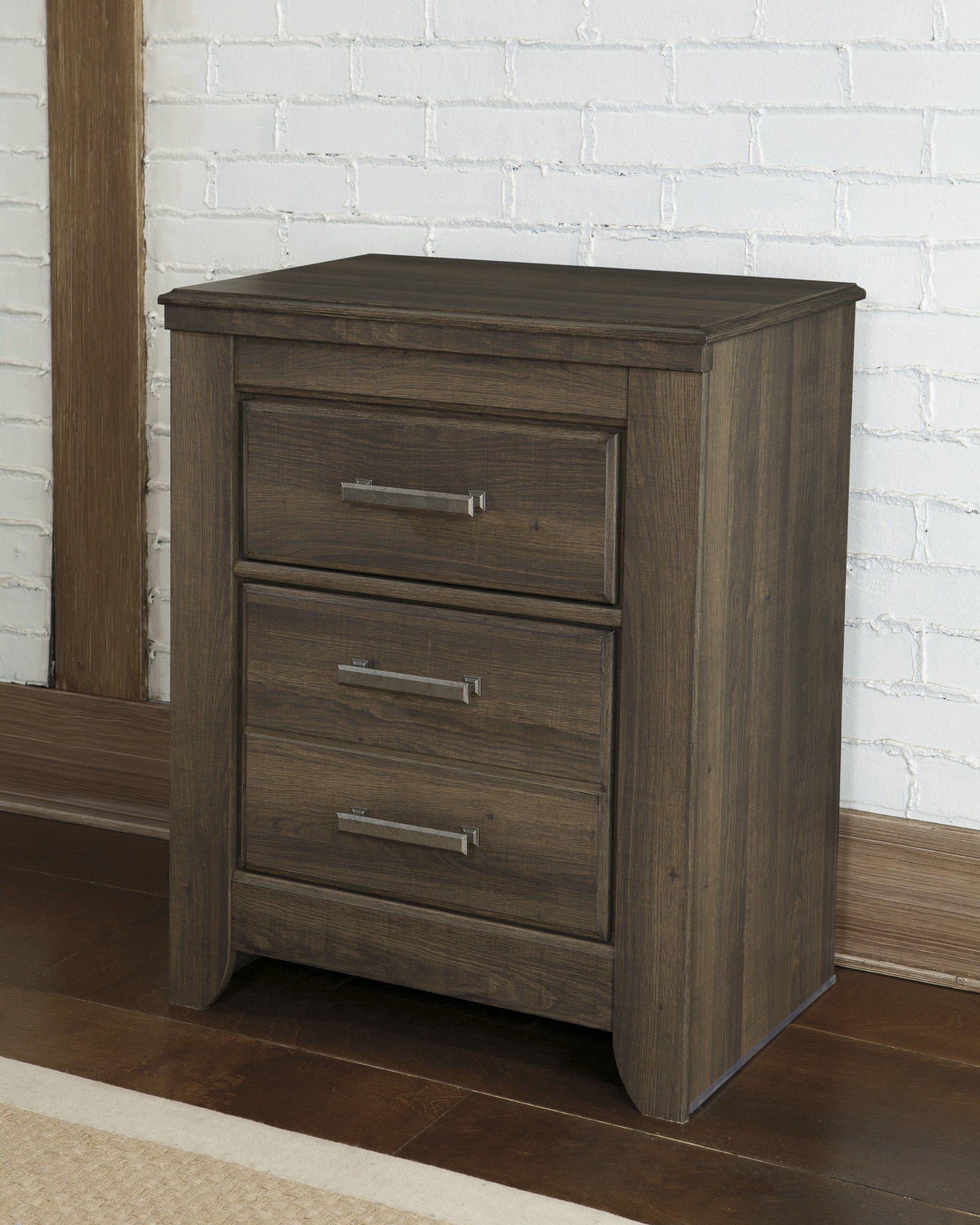 Juararoy Casual Dark Brown Color Replicated Roughsawn Oak Bed Room