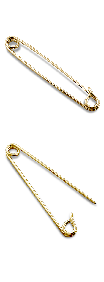 67fb1d91b912 Men's Classic 14k Gold Safety Pin Collar Bar - Jewelry for Men ...