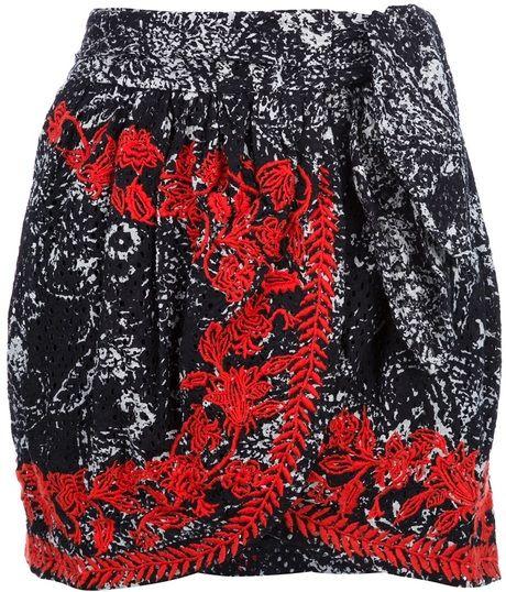 Printed Wraparound Skirt - Lyst