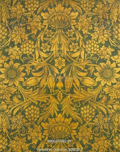 0ce37039678d Sunflower wallpaper, by William Morris. England, 1879 | William ...