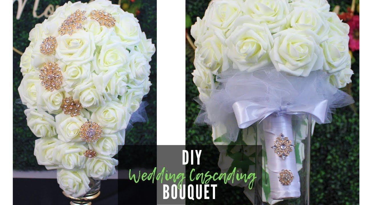 DIY Wedding Bridal Cascading Bouquet 💐💍 How to make a