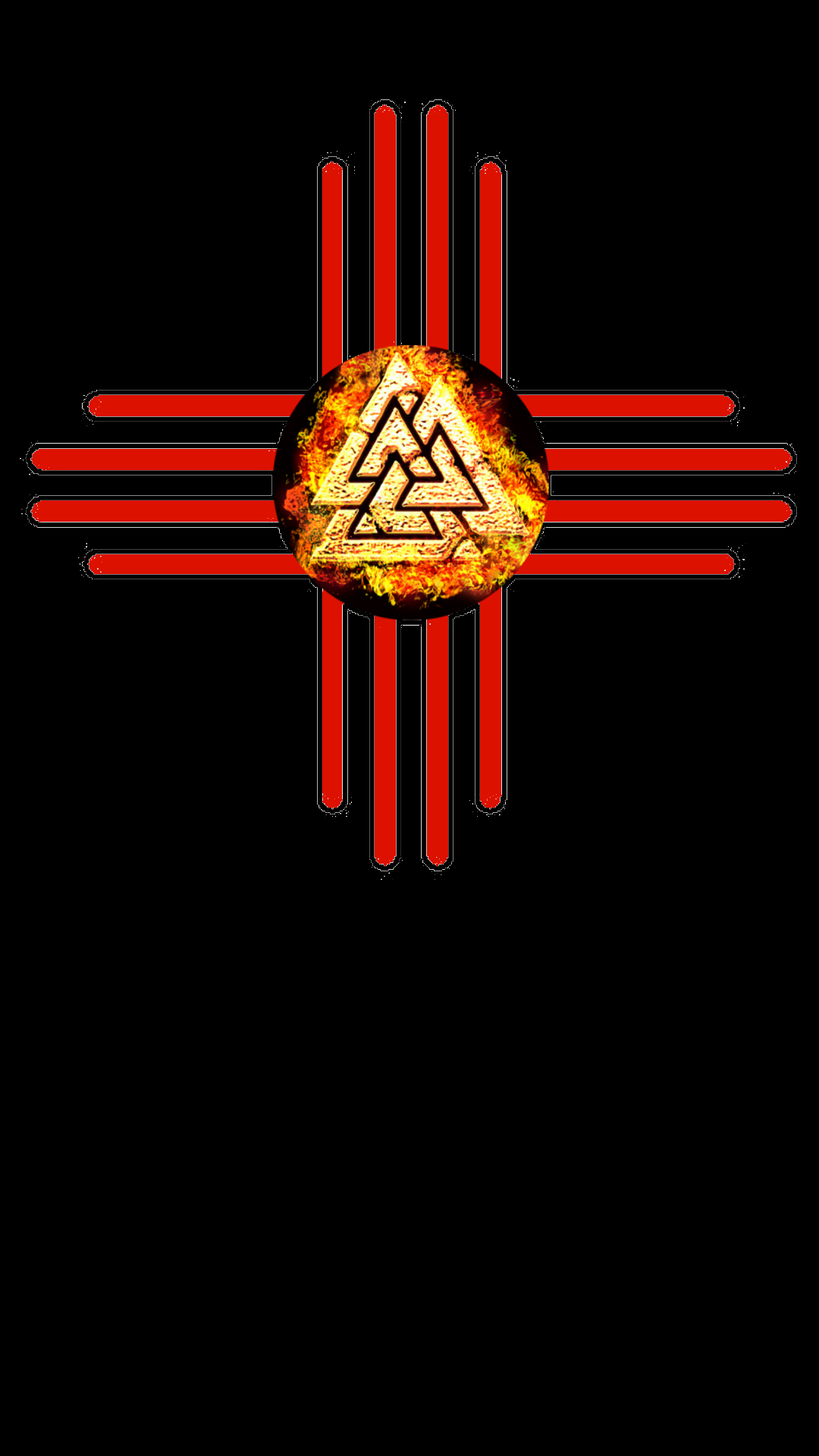 Native American Zia Nordic Valknut Fire West Art New Mexico Southwest Usa