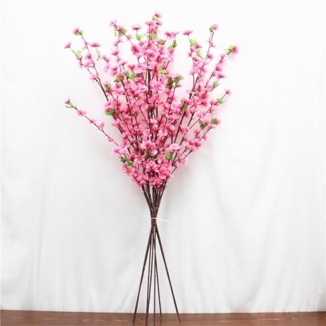 Photo of 55cm New Country Style Artificial Flower Rattan Vase Wedding Hotel DIY Home Decoration Accessorie Cherry Flower Arrangement Vas – 120cm 8 pcs pink