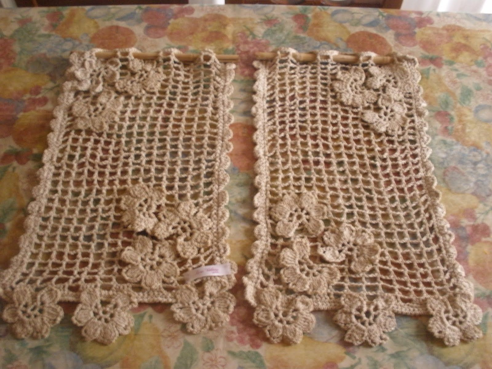 Cortinas tejidas al crochet tejido 2 pinterest - Tejidos de cortinas ...