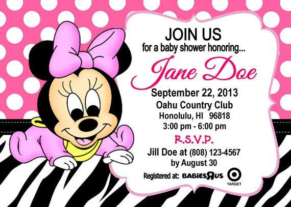 Invitación Para Baby Shower De Minnie Imagui Minnie