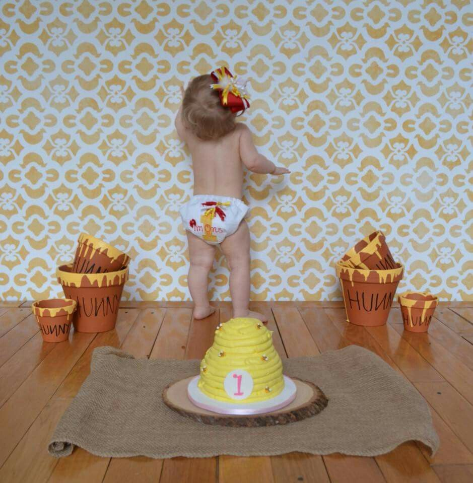 Hundred acre wood party winnie the pooh smash cake