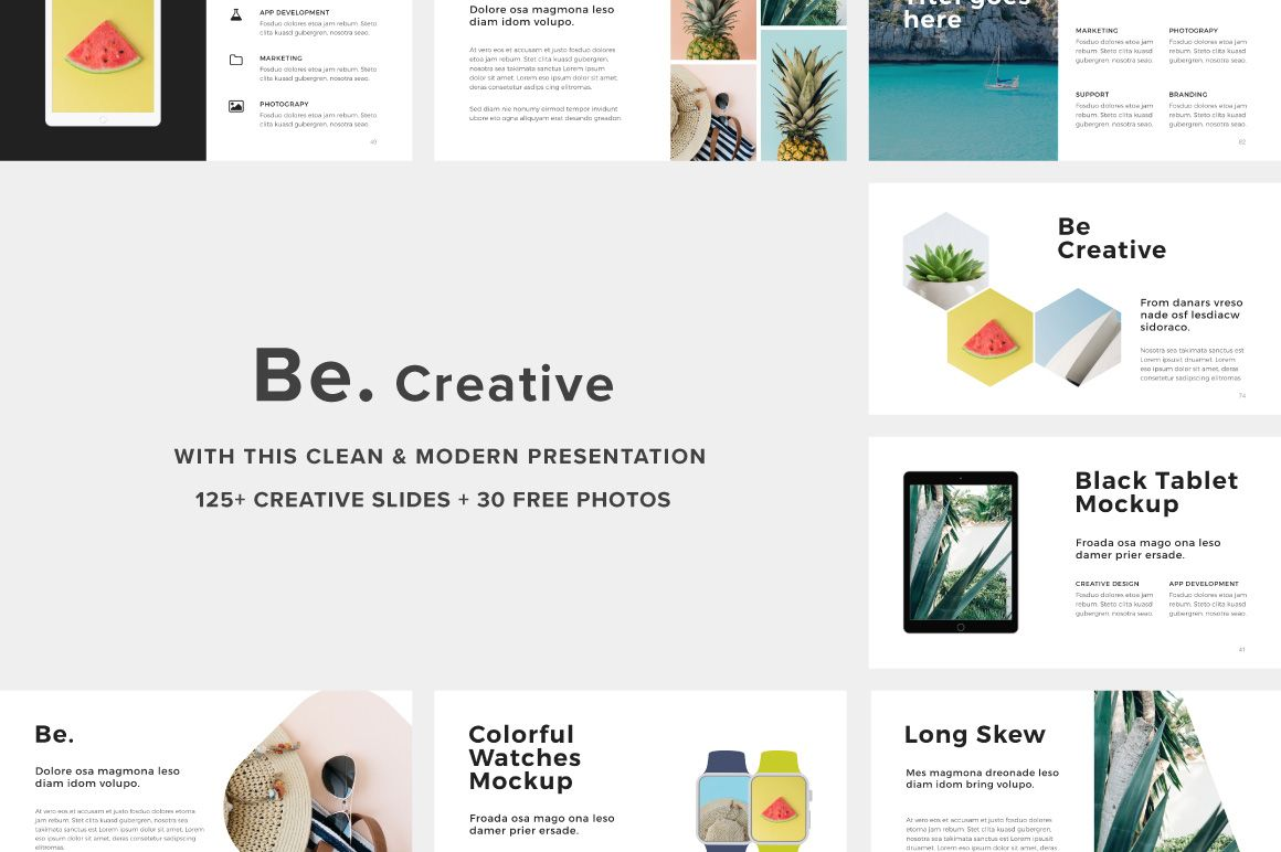 be powerpoint presentation 30photos by fromade studio on