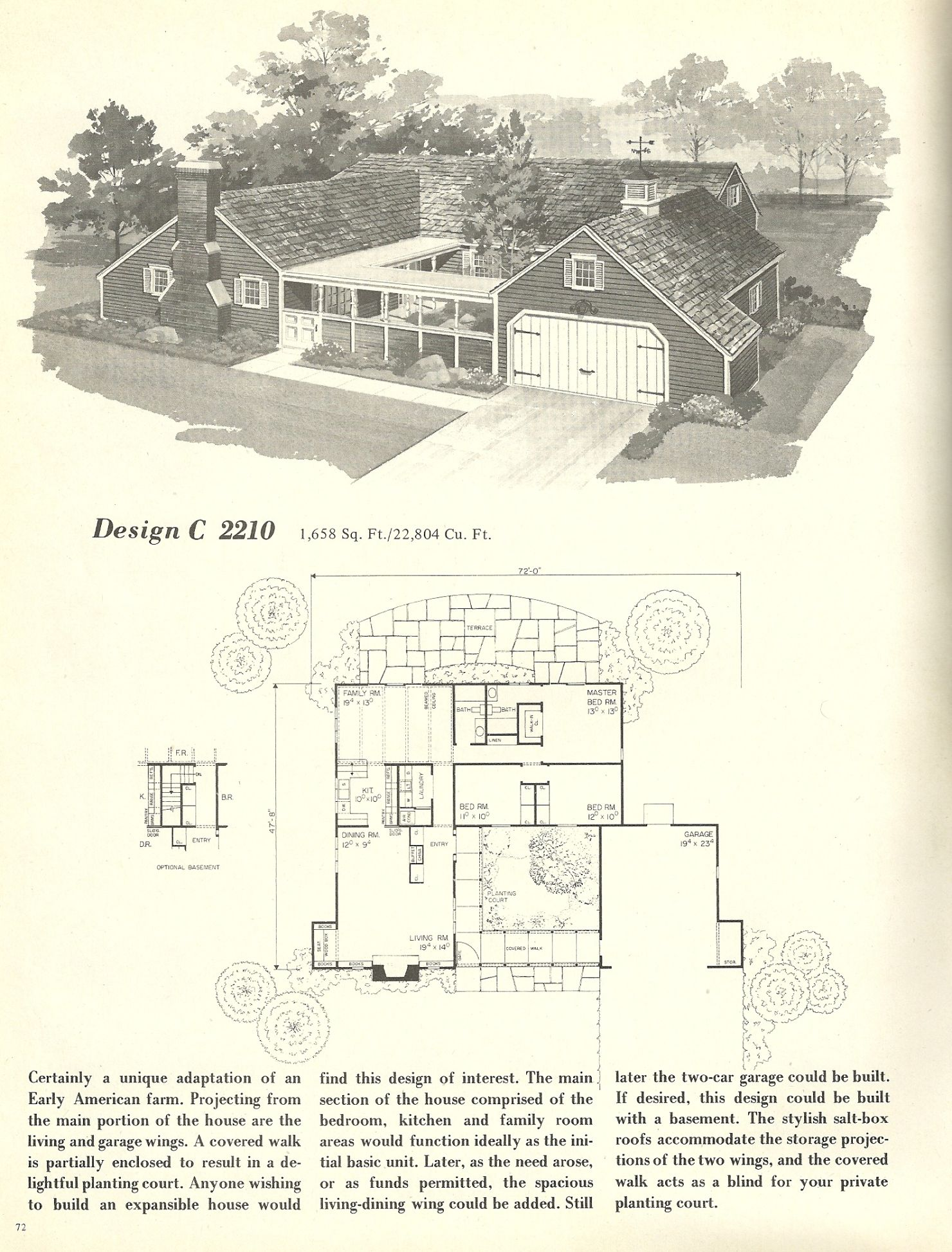 Vintage House Plans 1960s: Spanish Style and Mid Century ...