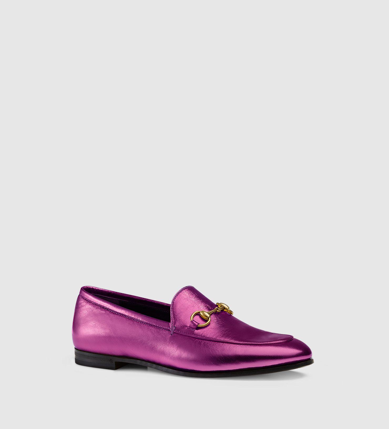 6675886b9cd gucci jordaan metallic loafer