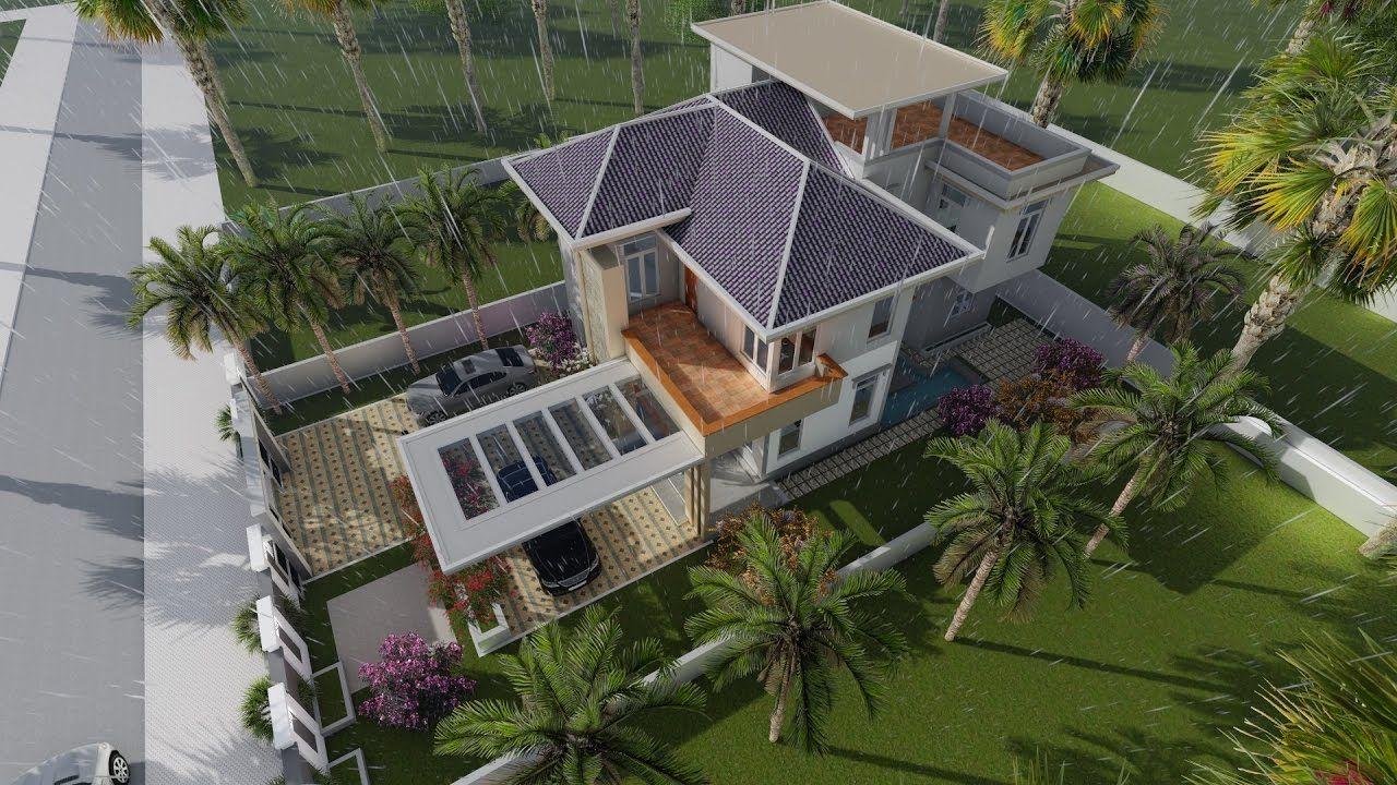 Modern Vila Design 16 + Lumion Render + Sketchup Model