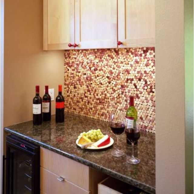 Wine Cork Backsplash Diy Kitchen Backsplash Diy Kitchen Wine Cork Projects