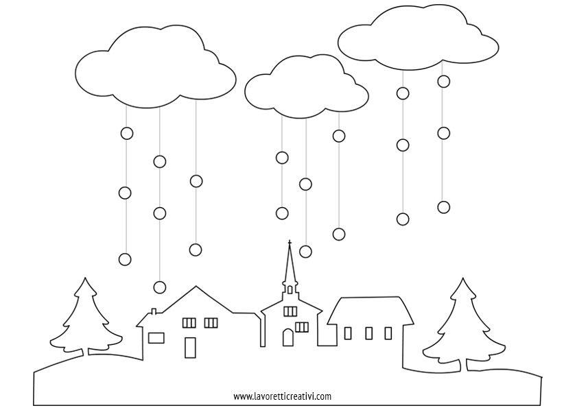 Decorazioni finestra paesaggio neve arte e immagine for Addobbi natalizi per finestre scuola primaria