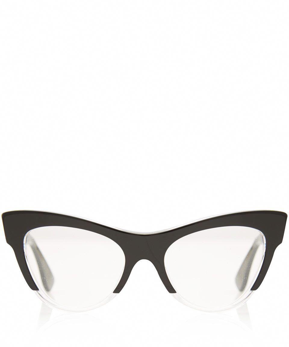 7dea5b992fdc Miu Miu Black Acetate Cat Eye Glasses