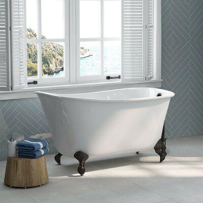Cambridge Plumbing None 54 X 28 Clawfoot Soaking Bathtub