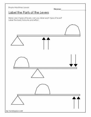 Label the Parts of the Lever | Simple Machines | Simple