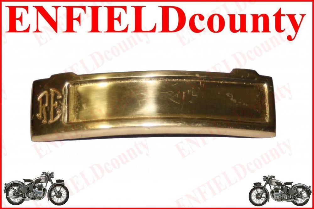 NEW ROYAL ENFIELD BRASS MADE FRONT FORK HEADLAMP RE EMBOSSED