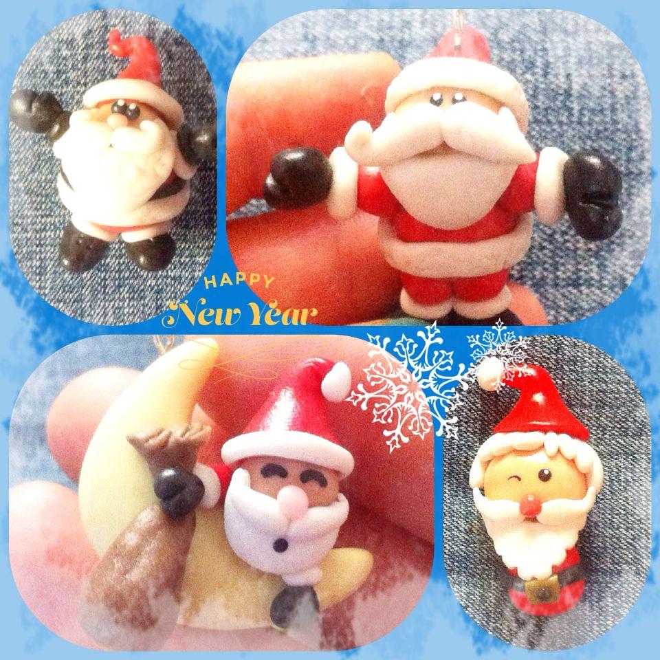 Santa en Porcelana Fría