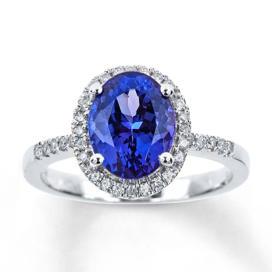 Jared Tanzanite Ring 15 ct tw Diamonds 14K White Gold Rings