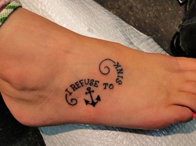 Refuse To Sink Tattoo Refuse To Sink Anchor Tattoo On