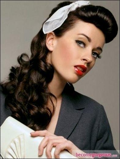Makijaz Retro Lata 50 Lata 40 50 Vintage Hairstyles For