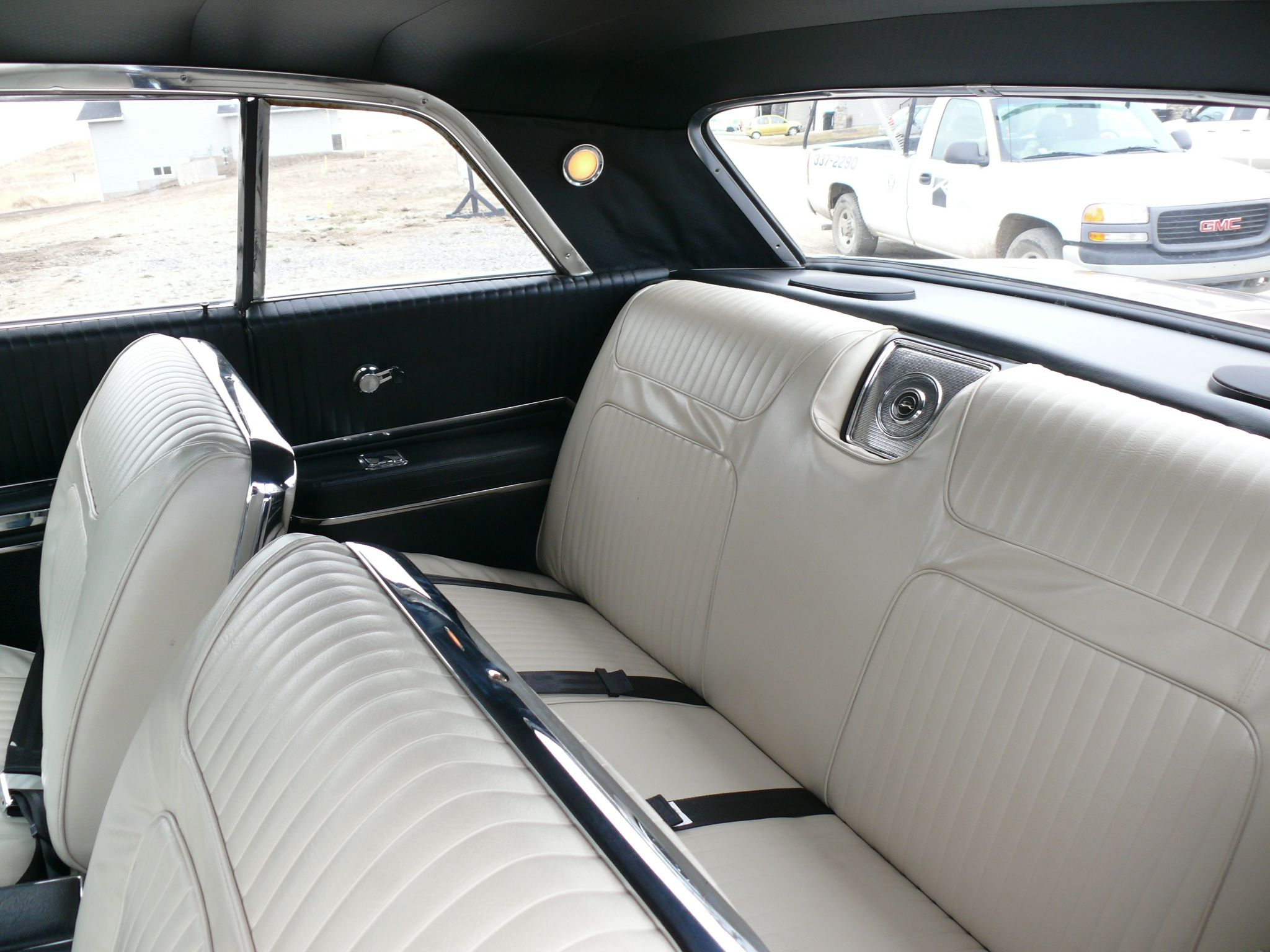 Rear Seat Area Of My 1964 Impala Ss Note The 39 Tuxedo 39 Interior Fawn Seats All Else In Black