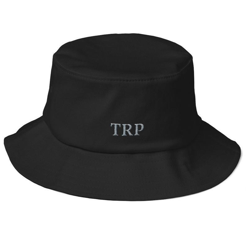 Trp Old School Bucket Hat Etsy Black Bucket Hat Hats Bucket Hat
