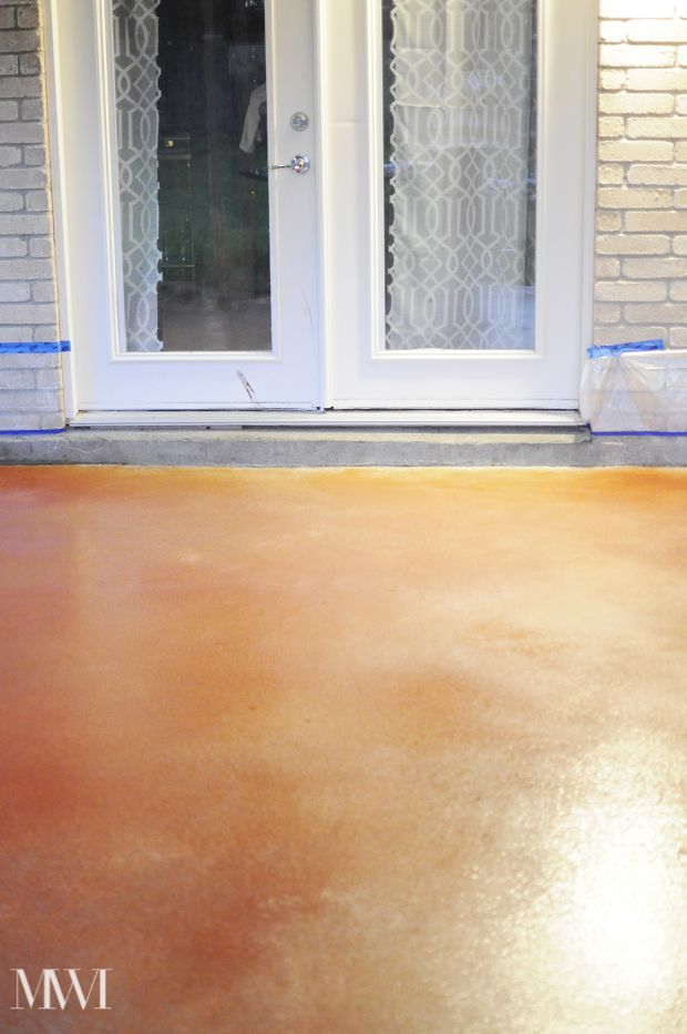 DIY Stain Your Concrete Patio On The Cheap