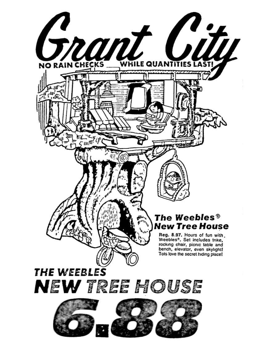 grant city weebles trees house november 1975 1970 s 1980 s Bowery New York City 1970 grant city weebles trees house november 1975