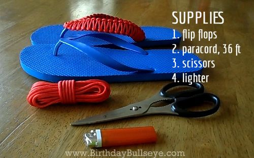 b97793b0f57b4 How to make DIY flip flops for men that they ll actually wear! Homemade  Birthday Gift Tutorial  Paracord Flip Flops For Men