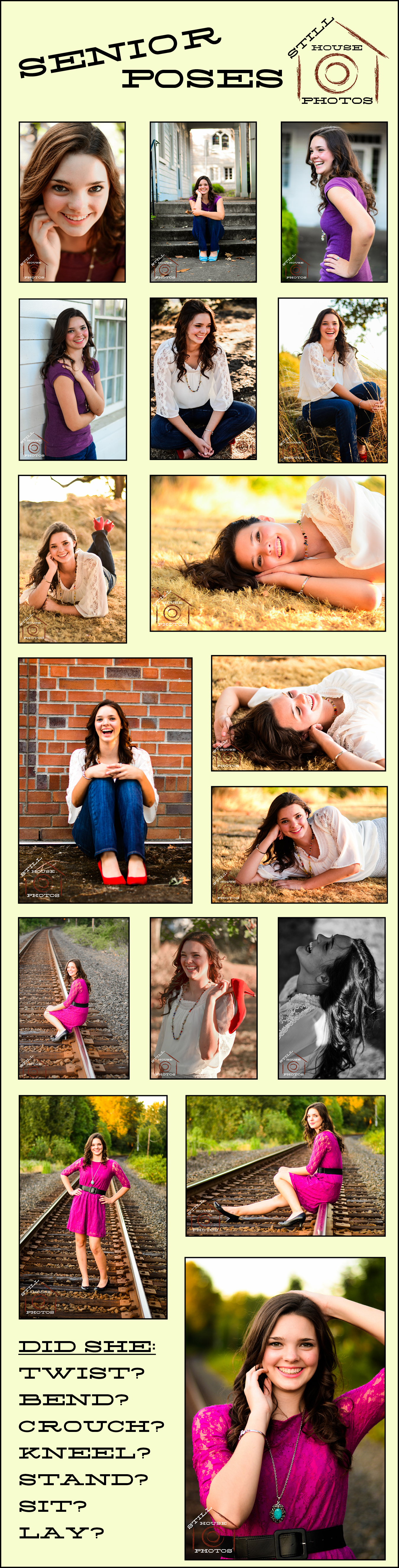Senior Portrait Poses - some ideas from my recent shoot.