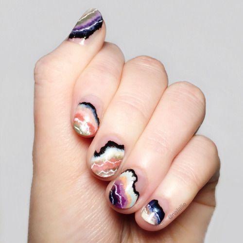 7 Coolest Negative Space Nails On Tumblr Nail Art Pinterest