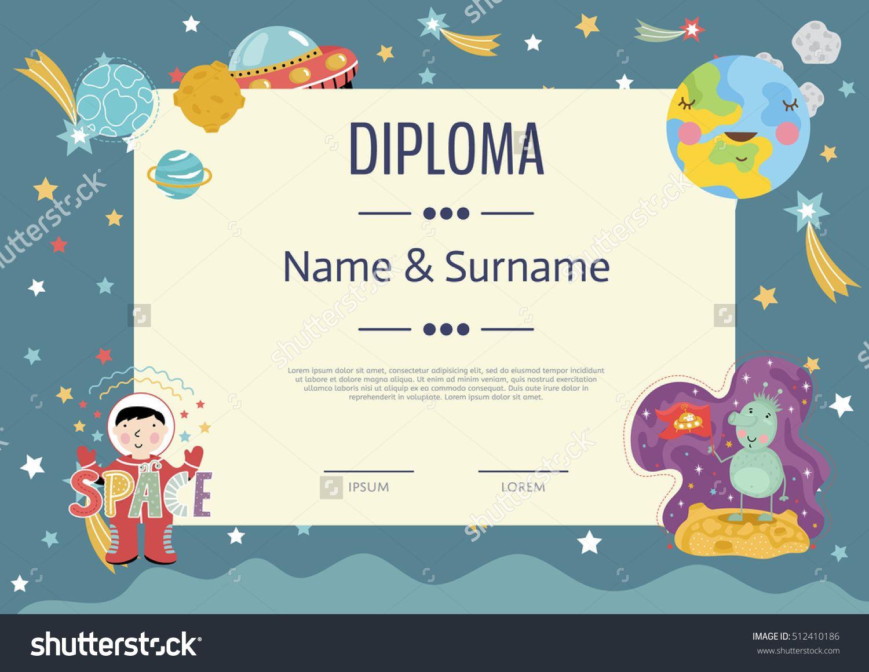 Preschool Elementary School Kids Diploma Kids Certificate Or