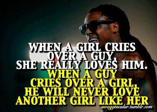 When a boy cries for a girl