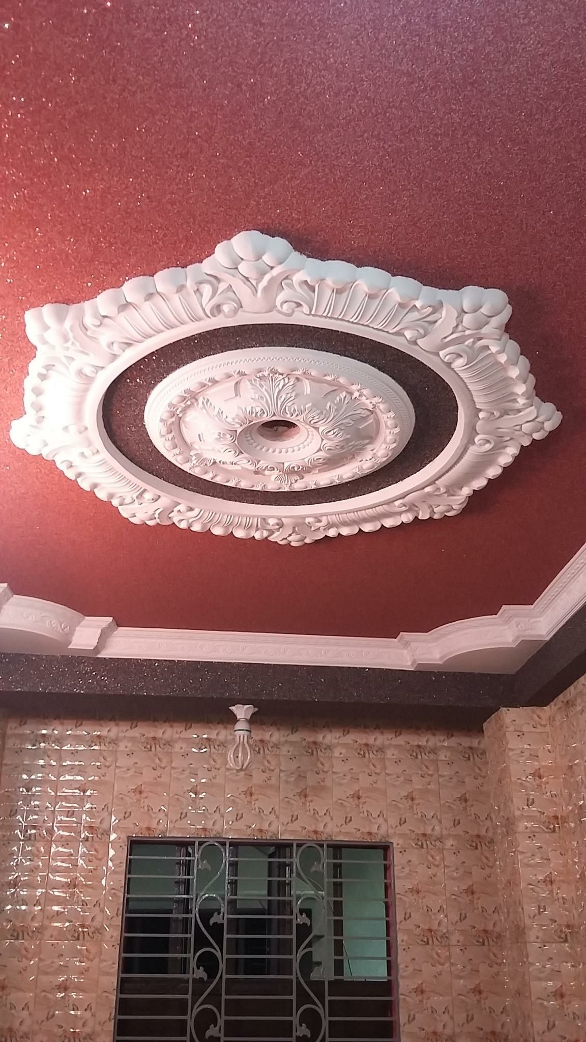 Calcium Silicate Ceiling Color Gypsum Ceiling Rose Pr In